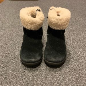 UGG Black Fuzzy Boots